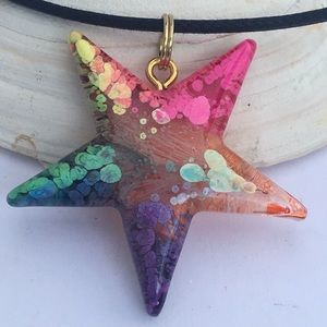 Hand painted Start Necklace